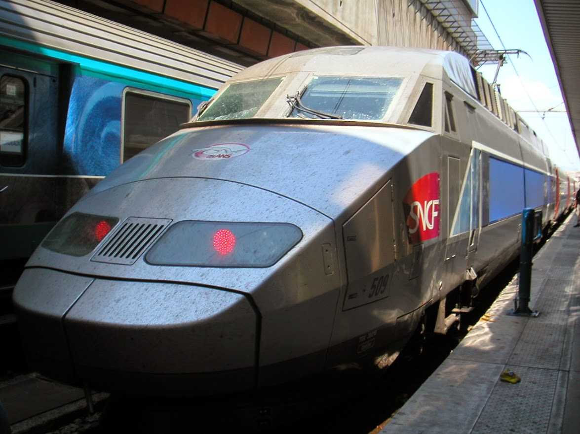 TGV。働かず動けばいいとばかりに洗わないのでドロドロです。